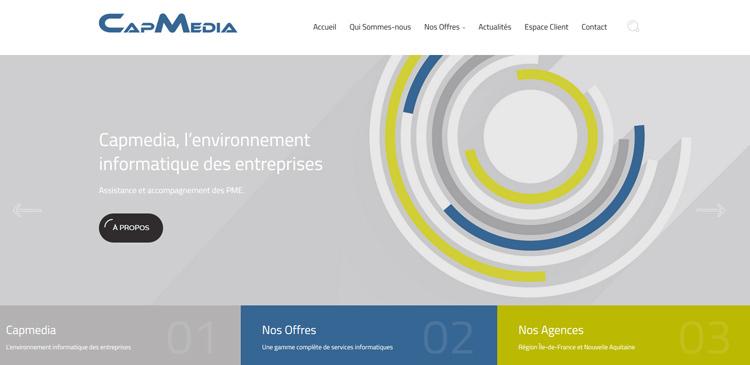 Nouveau site web capmedia